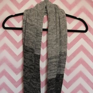 Accessories - Gray & Black Marled Infinity Scarf